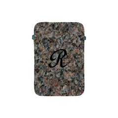 Pink And Black Mica Letter R Apple iPad Mini Protective Sleeve