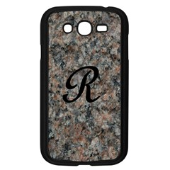 Pink And Black Mica Letter R Samsung Galaxy Grand DUOS I9082 Case (Black)