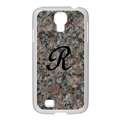 Pink And Black Mica Letter R Samsung GALAXY S4 I9500/ I9505 Case (White)