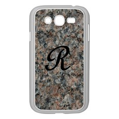 Pink And Black Mica Letter R Samsung Galaxy Grand Duos I9082 Case (white)