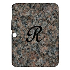 Pink And Black Mica Letter R Samsung Galaxy Tab 3 (10.1 ) P5200 Hardshell Case