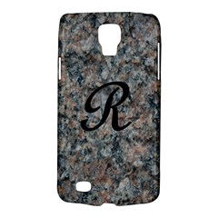 Pink And Black Mica Letter R Samsung Galaxy S4 Active (I9295) Hardshell Case