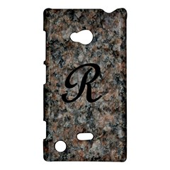 Pink And Black Mica Letter R Nokia Lumia 720 Hardshell Case