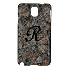 Pink And Black Mica Letter R Samsung Galaxy Note 3 N9005 Hardshell Case