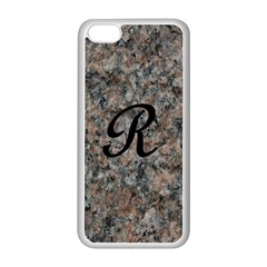 Pink And Black Mica Letter R Apple iPhone 5C Seamless Case (White)