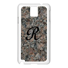 Pink And Black Mica Letter R Samsung Galaxy Note 3 N9005 Case (White)
