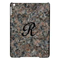 Pink And Black Mica Letter R Apple iPad Air Hardshell Case
