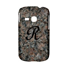 Pink And Black Mica Letter R Samsung Galaxy S6310 Hardshell Case