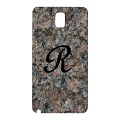 Pink And Black Mica Letter R Samsung Galaxy Note 3 N9005 Hardshell Back Case