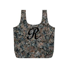 Pink And Black Mica Letter R Reusable Bag (s)