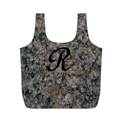 Pink And Black Mica Letter R Reusable Bag (M)