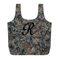 Pink And Black Mica Letter R Reusable Bag (L)