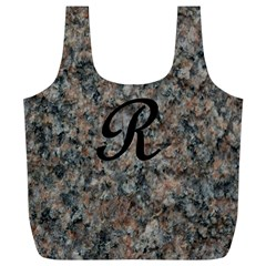 Pink And Black Mica Letter R Reusable Bag (XL)