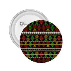 Aztec Style Pattern 2.25  Button