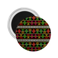 Aztec Style Pattern 2 25  Button Magnet