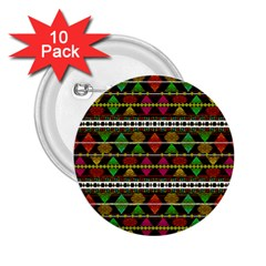 Aztec Style Pattern 2 25  Button (10 Pack)