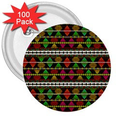 Aztec Style Pattern 3  Button (100 pack)