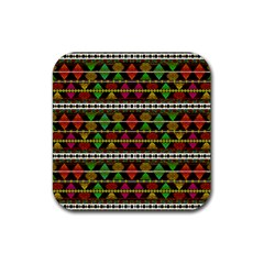 Aztec Style Pattern Drink Coaster (Square)