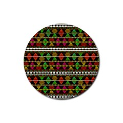 Aztec Style Pattern Drink Coasters 4 Pack (Round)