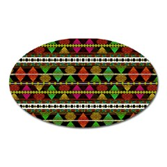 Aztec Style Pattern Magnet (Oval)