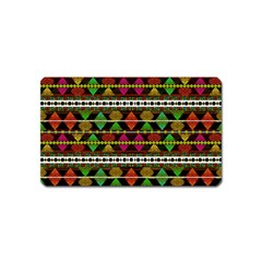 Aztec Style Pattern Magnet (Name Card)