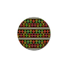 Aztec Style Pattern Golf Ball Marker