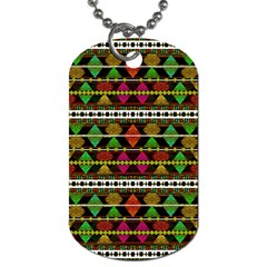 Aztec Style Pattern Dog Tag (Two-sided)