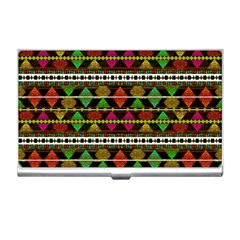 Aztec Style Pattern Business Card Holder