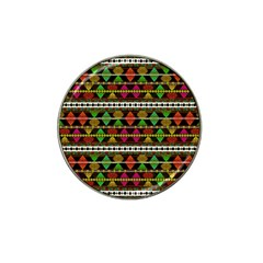 Aztec Style Pattern Golf Ball Marker 4 Pack (for Hat Clip)