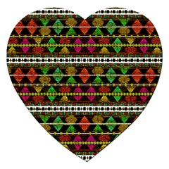 Aztec Style Pattern Jigsaw Puzzle (Heart)