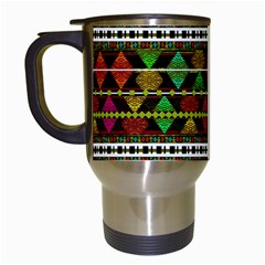 Aztec Style Pattern Travel Mug (White)