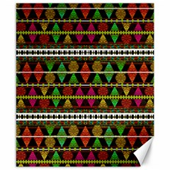 Aztec Style Pattern Canvas 8  X 10  (unframed)
