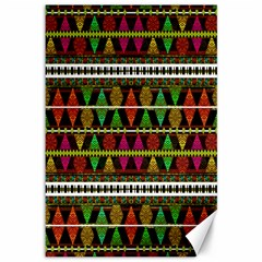 Aztec Style Pattern Canvas 12  x 18  (Unframed)