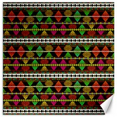 Aztec Style Pattern Canvas 20  x 20  (Unframed)