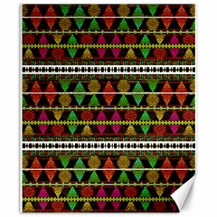 Aztec Style Pattern Canvas 20  X 24  (unframed)