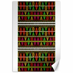 Aztec Style Pattern Canvas 20  X 30  (unframed)