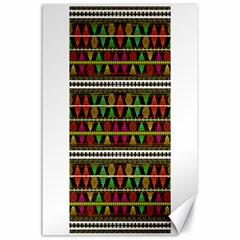 Aztec Style Pattern Canvas 24  x 36  (Unframed)