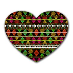 Aztec Style Pattern Mouse Pad (Heart)