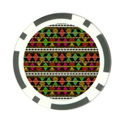 Aztec Style Pattern Poker Chip