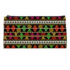 Aztec Style Pattern Pencil Case