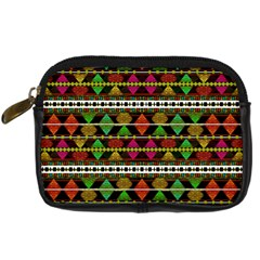 Aztec Style Pattern Digital Camera Leather Case