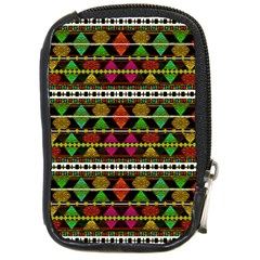 Aztec Style Pattern Compact Camera Leather Case