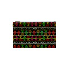 Aztec Style Pattern Cosmetic Bag (small)