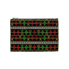 Aztec Style Pattern Cosmetic Bag (Medium)