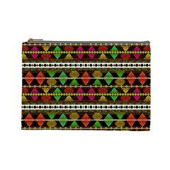 Aztec Style Pattern Cosmetic Bag (Large)