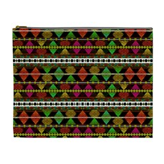Aztec Style Pattern Cosmetic Bag (xl)