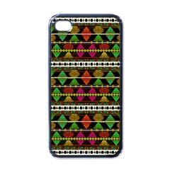 Aztec Style Pattern Apple iPhone 4 Case (Black)