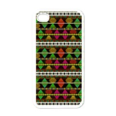 Aztec Style Pattern Apple iPhone 4 Case (White)