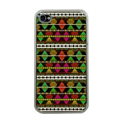 Aztec Style Pattern Apple Iphone 4 Case (clear)