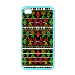 Aztec Style Pattern Apple iPhone 4 Case (Color)